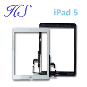 New Black and White Touch Panel Display Screen With Stickers For iPad Air Touch Screen Digitizer Out