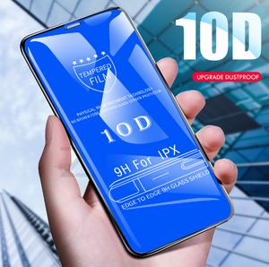 10D Full Cover Tempered Glass For iPhone X 5 7 8 6 Plus XS MAX Screen Protector